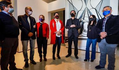 """La muestra """"David Alfaro Siqueiros. La construcción de lo público"""", abre al público en Los Pinos, su residencia temporal"""