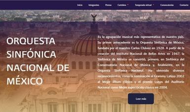 La Orquesta Sinfónica Nacional invita a conocer su renovada página oficial