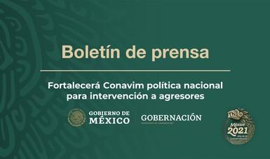 Fortalecerá Conavim política nacional para intervención a agresores