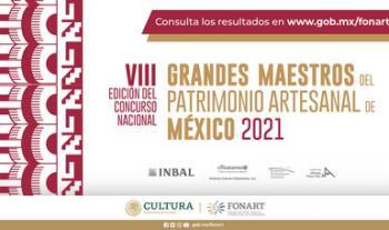 Se publican los resultados de la VIII Edición del Concurso Nacional Grandes Maestros del Patrimonio Artesanal de México 2021