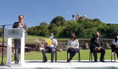 Conmemoran nueve décadas del inicio de exploraciones de la gran pirámide de Cholula, Puebla
