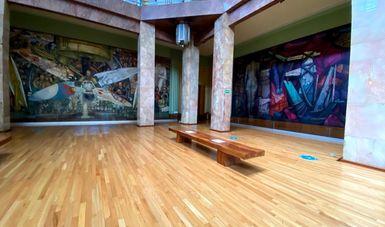La Secretaría de Cultura y el INBAL realizan trabajos de conservación en los murales del Museo del Palacio de Bellas Artes