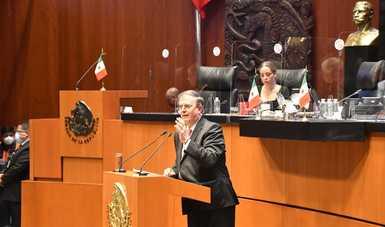 En política exterior México tiene autoridad moral y respeto de la comunidad internacional: Ebrard