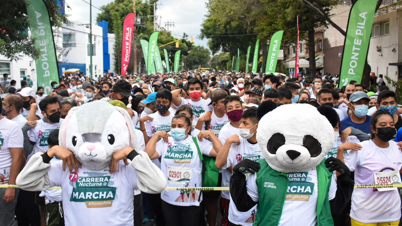 Retorna a la actividad atlética masiva la alcaldía Benito Juárez, con la 7a Carrera Nocturna Ponte Pila
