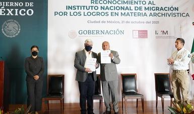 Recibe INM reconocimiento del Archivo General de la Nación