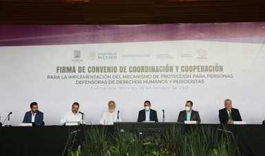 Firman Gobernación y Morelos convenio a favor de la libertad de expresión y de los derechos humanos