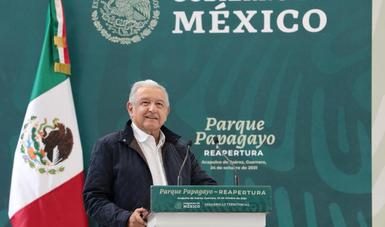 En Acapulco, presidente encabeza reapertura del Parque Papagayo