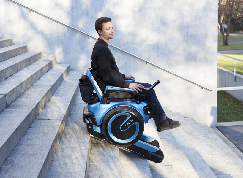 Grupo de ingenieros suizos fabrican silla de ruedas que sube escaleras.