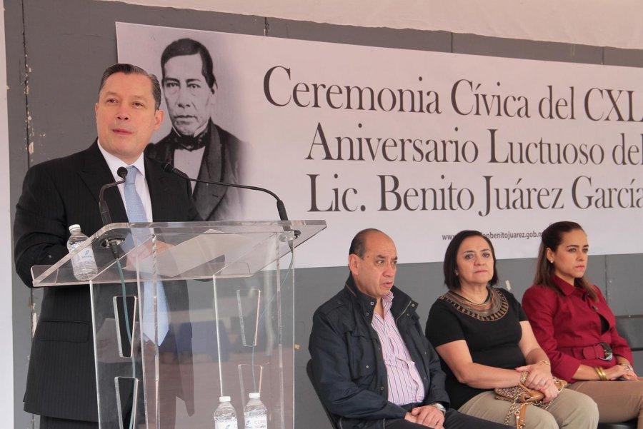 CONMEMORAN EN BJ 143 ANIVERSARIO LUCTUOSO DEL BENEMÉRITO DE LAS AMÉRICAS