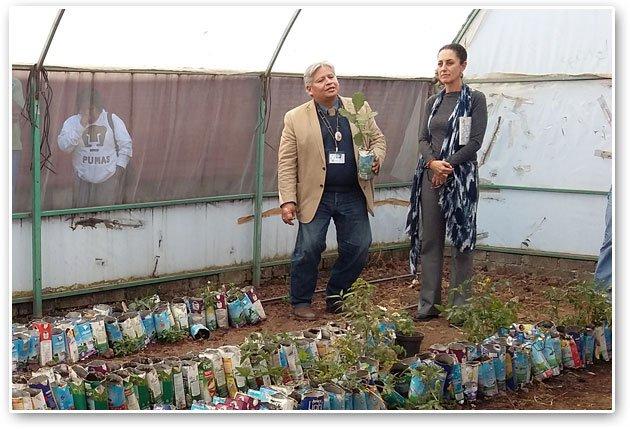 Visita Claudia Sheinbaum Secundaria Técnica Agropecuaria 56 en San Miguel Topilejo