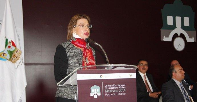 INAUGURA LA SUBSECRETARIA ROCÍO RUIZ LA CONVENCIÓN NACIONAL DE CORREDURÍA PÚBLICA MEXICANA 2014