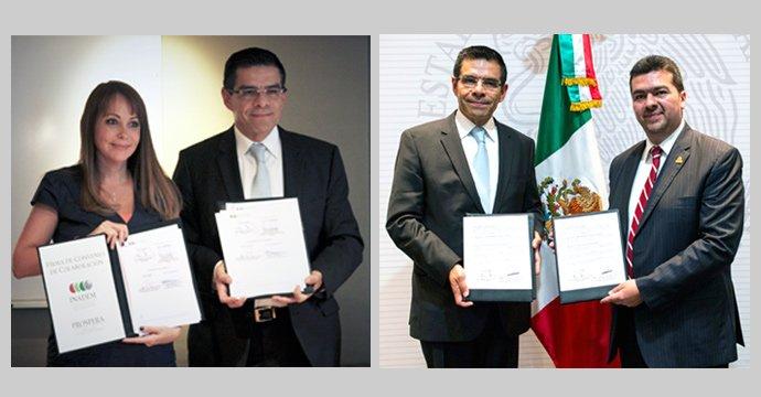REUNIONES DE TRABAJO DEL INADEM CON LA SENER Y PROSPERA