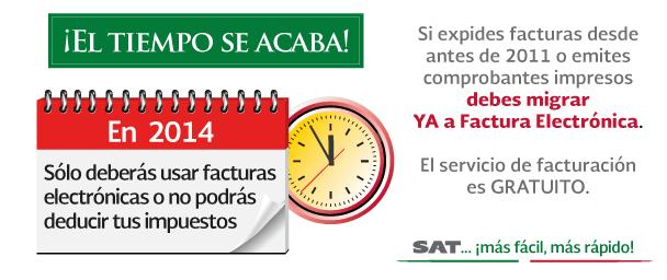 Factura Electrónica obligatoria