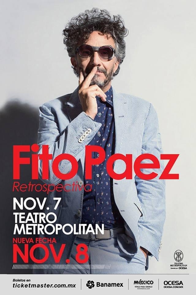 Fito Páez vuelve a México para ofrecer una retrospectiva de su trayectoria
