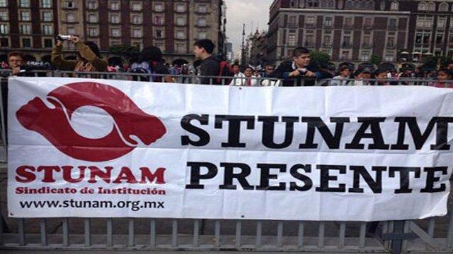 PROTESTAN ORGANIZACIONES SINDICALES EN EL SENADO