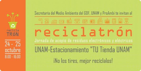 Invita Sedema al a€œReciclatróna€ en tienda UNAM