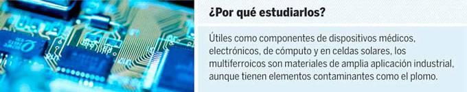Expertos de Nanociencias de la UNAM prueban nuevos materiales multiferroicos